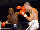 OUCH........Roy Rutherford lands a left hook on the nose of Dazzo Williams. Dazzo Williams is one of the best down to earth sportsmen I have ever met. A true champion!
