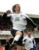 Hereford United forward Rob Purdie celebrates scoring in a Conference match against Shrewsbury Town. Made so much better because I am a born and bred Hereford United supporter!