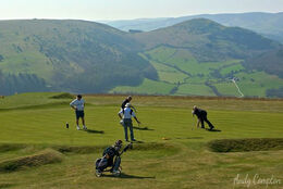 Wow......What a view off the 9th hole at Kington Golf Club with Hergest Ridge in the background