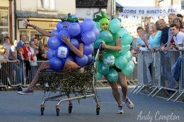 Fancy dress entrants head for the finish line