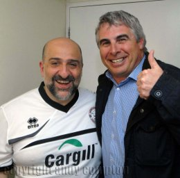 Comedian Omid Djalili and photographer Andy Compton