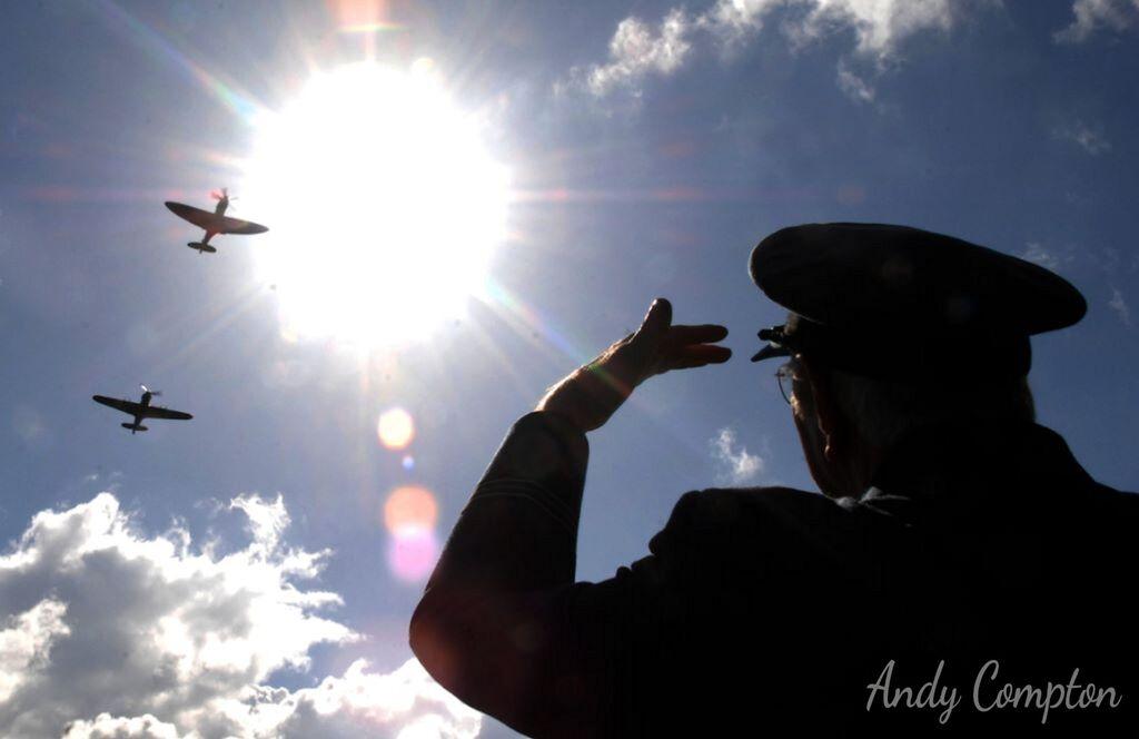 RAF Spitfire Flypast