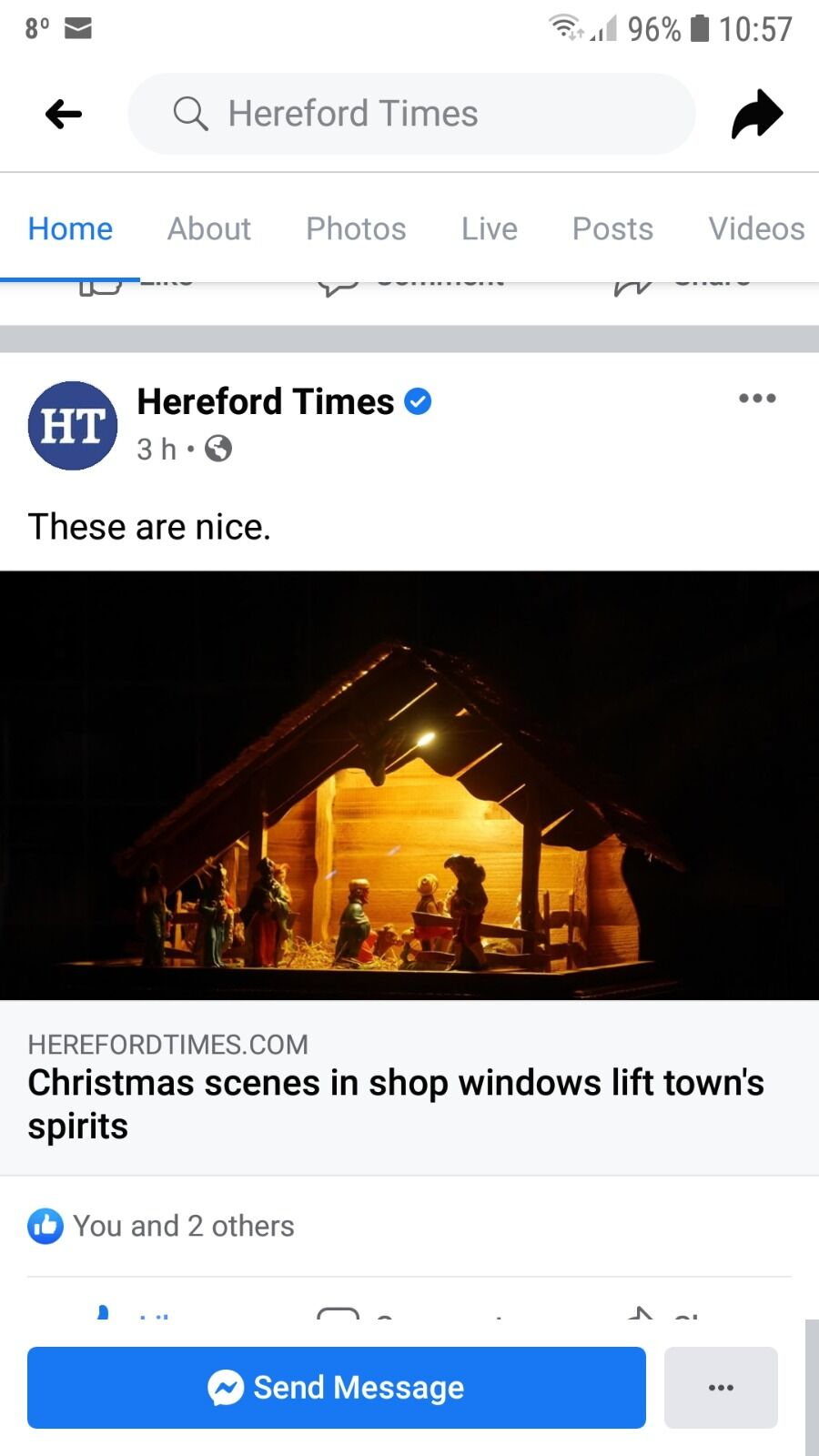 Kington Christmas Windows in the Hereford Times
