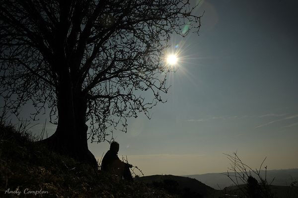 The Eclipse from a Hill
