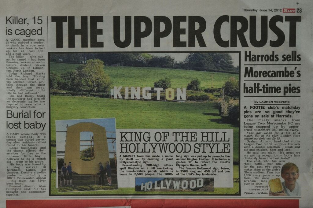 Kington in The Sun