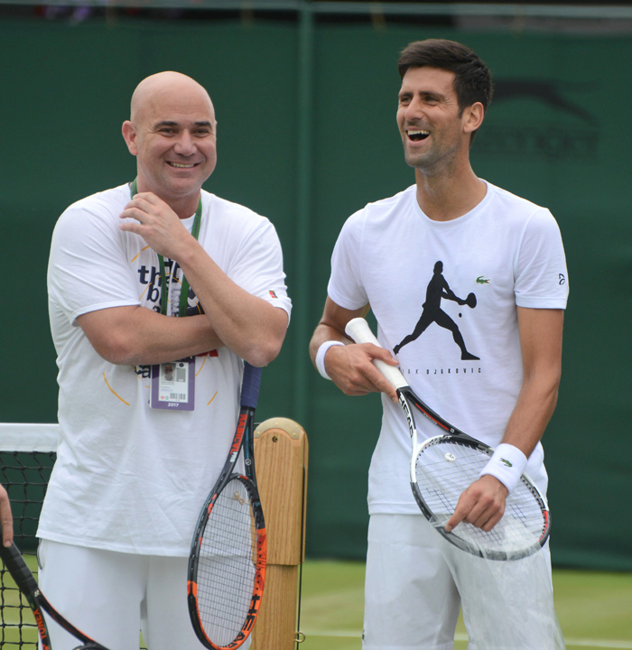 Agassi with Djokovic