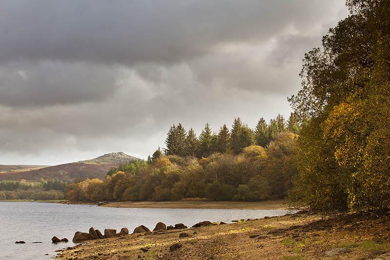 Burrator Reservoir And Down Tor