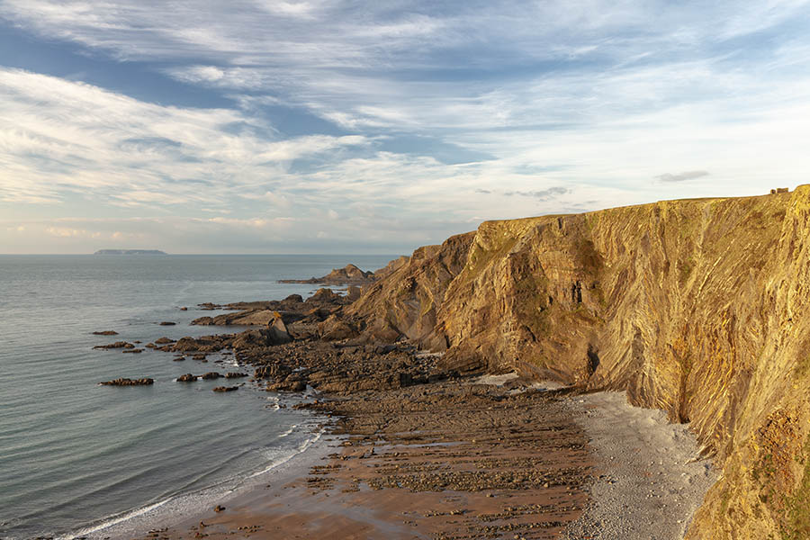 Warren Cliff And Lundy Island