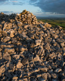 Cairn with Pendle Hill, Pot Scar
