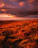 Stormy evening light on Darwen Moor