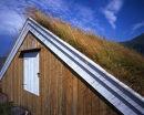 Turf-roofed boathouse