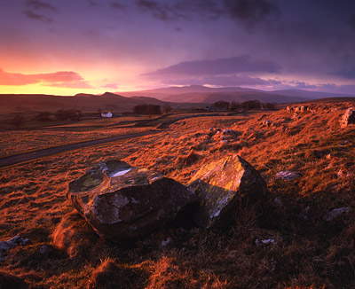 Sunset, Winskill, near Settle