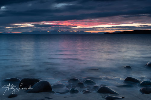 Skye sunset from Big Sand, Gairloch
