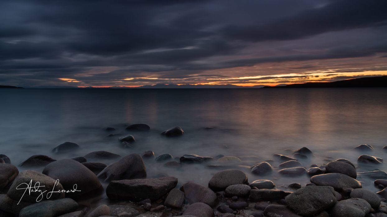 Sunset over Skye, from Gairloch