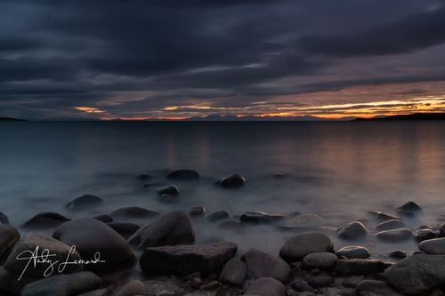 Sunset over Skye, from Gairloch