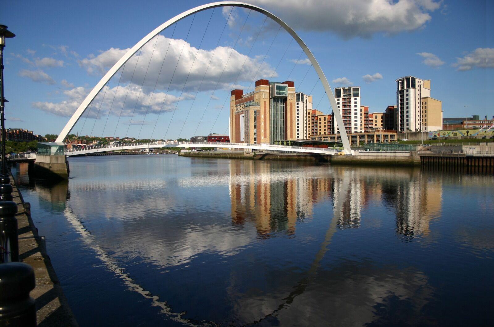 Quayside Reflection Millennium Bridge