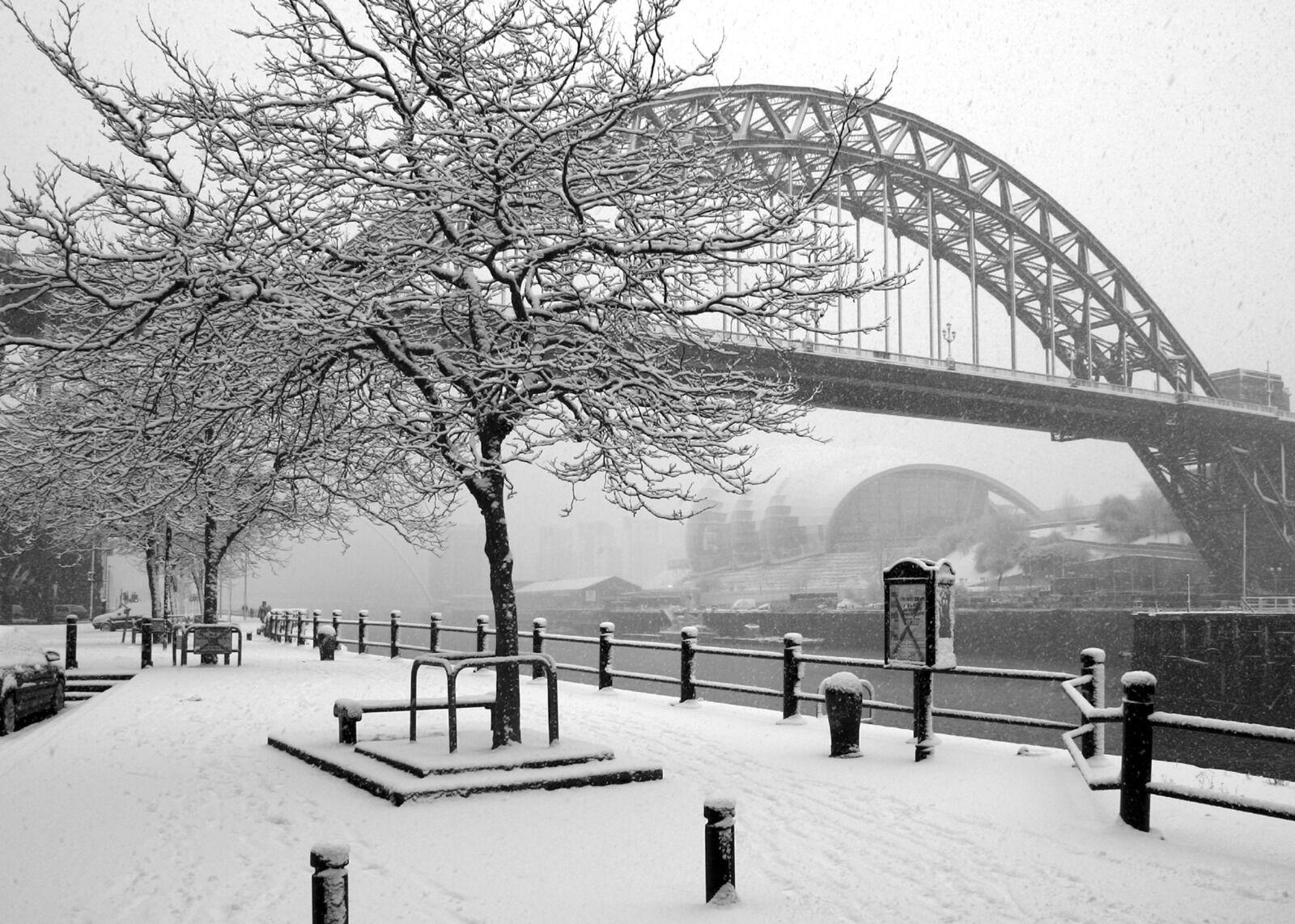 Newcastle Tyne Bridge  New Years Day  2010