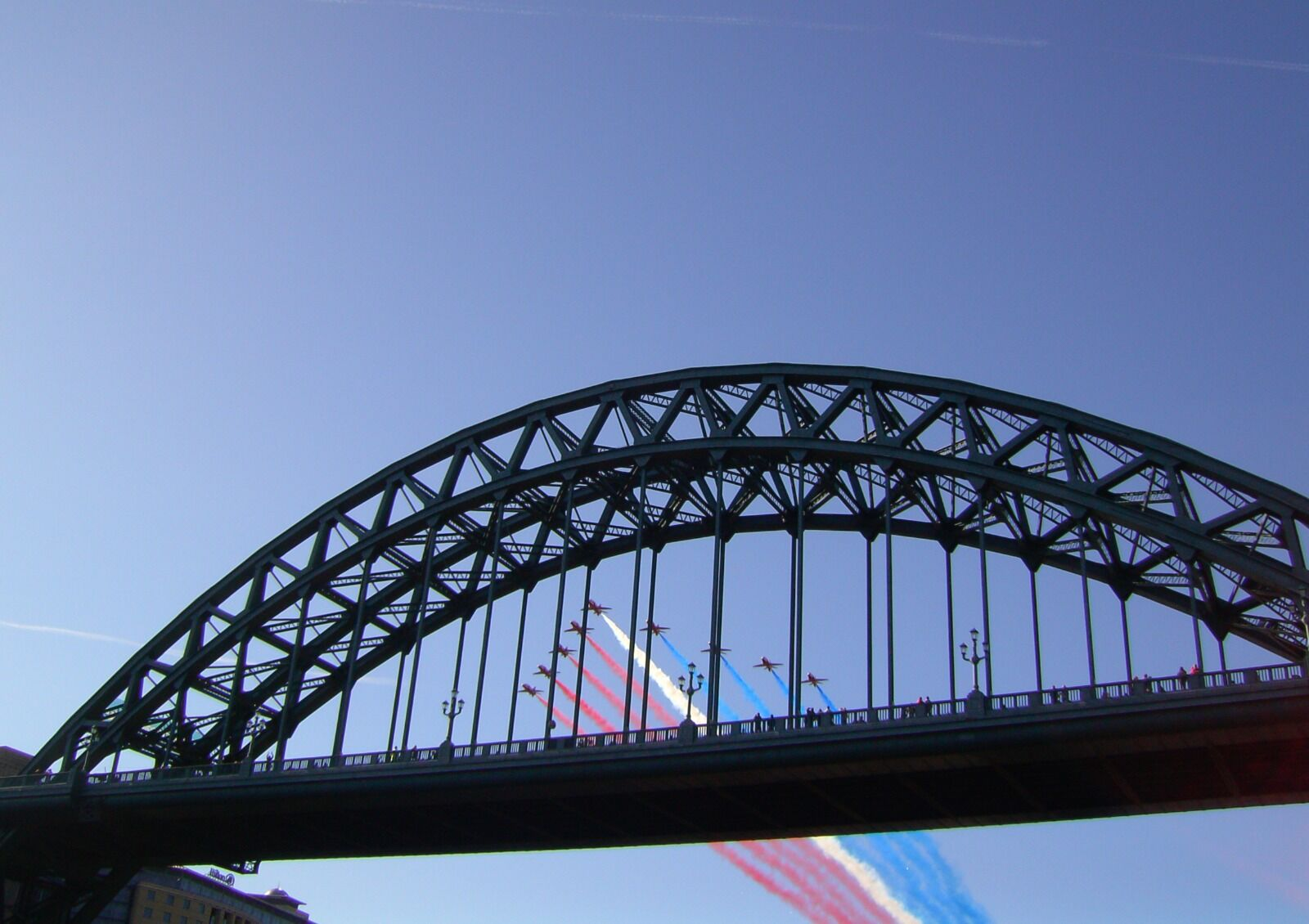 Newcastle Tyne Bridge Red Arrows Fly Pass 2008