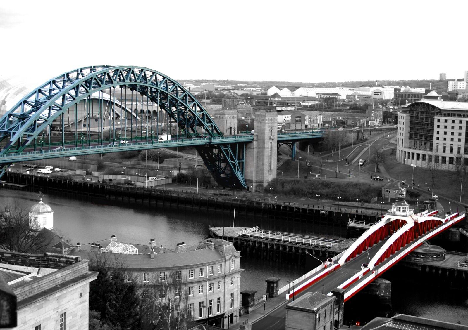 Newcastle Tyne Bridge And Swing Bridge Colour Splash
