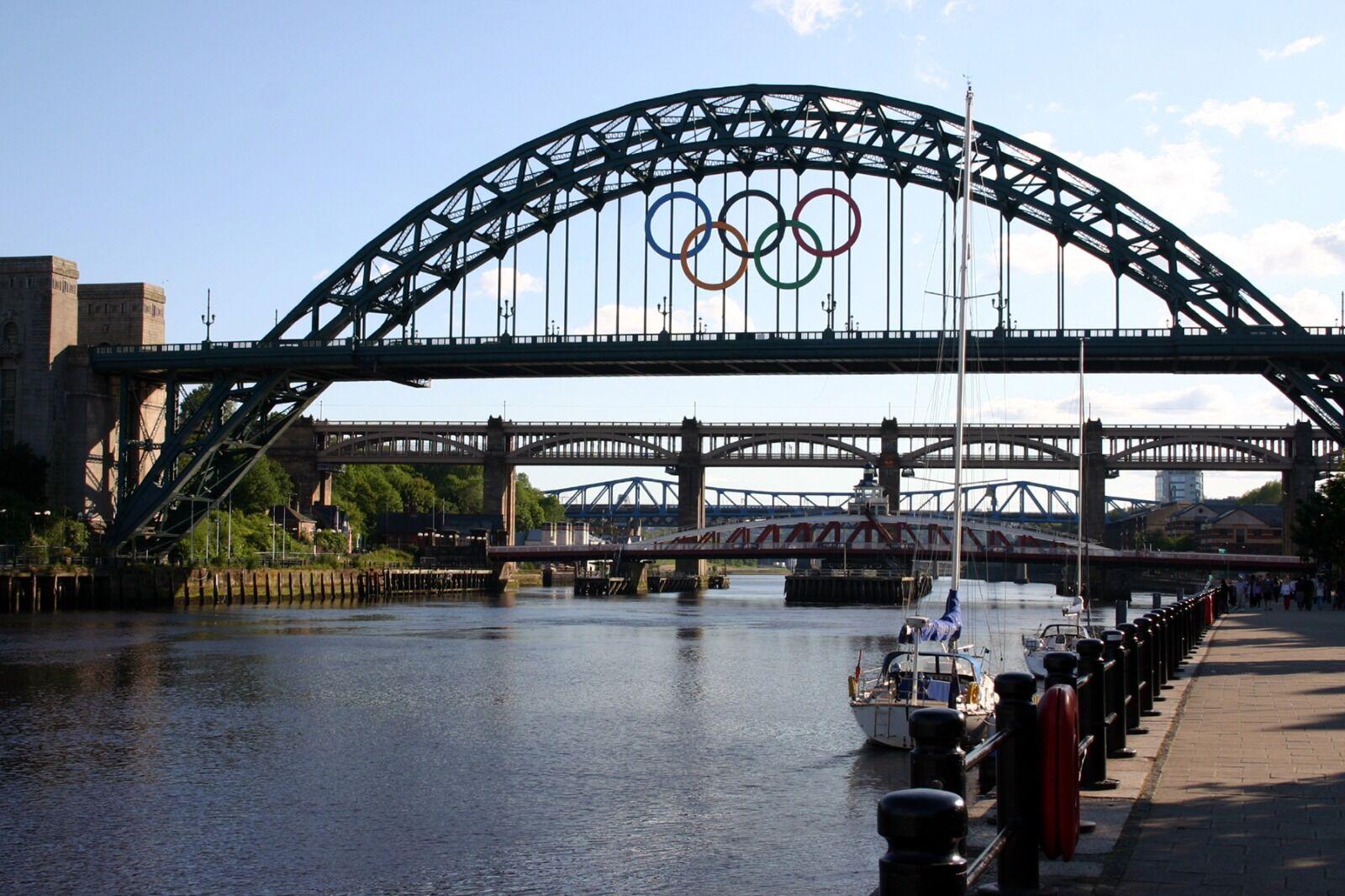Newcastle Tyne Bridge  Olympic Rings