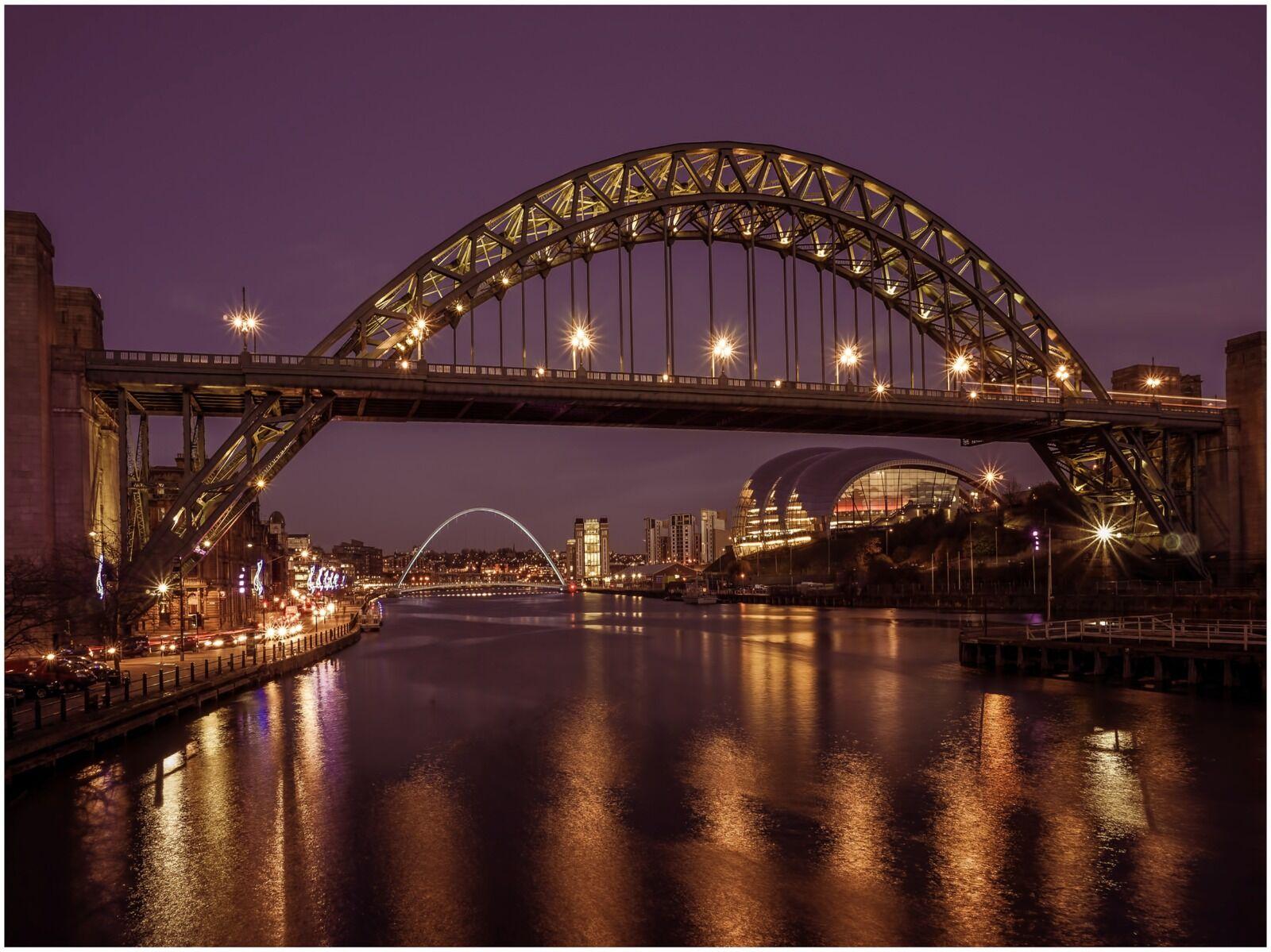 Newcastle Tyne Bridge Night Shot