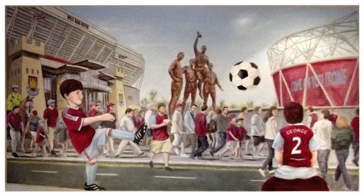 West Ham Mural - Digitally Flattened