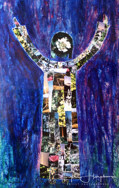 Mixed Media Collage Annunciation