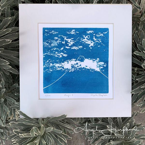 Fuji I limited edition lino print
