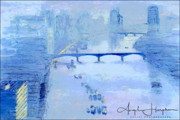 Impressionist Moods Blue Thames London
