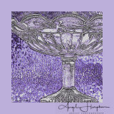 Edwardian Glass Dish Mauve