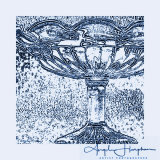 Edwardian Glass Dish Blue