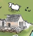 Gola Island, Donegal, Ireland - Illustrated Map