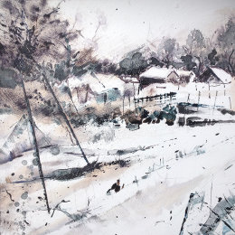 Allotments in the snow 4
