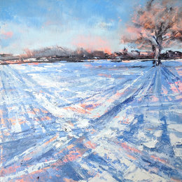 Towards St James in the snow, Old Milverton