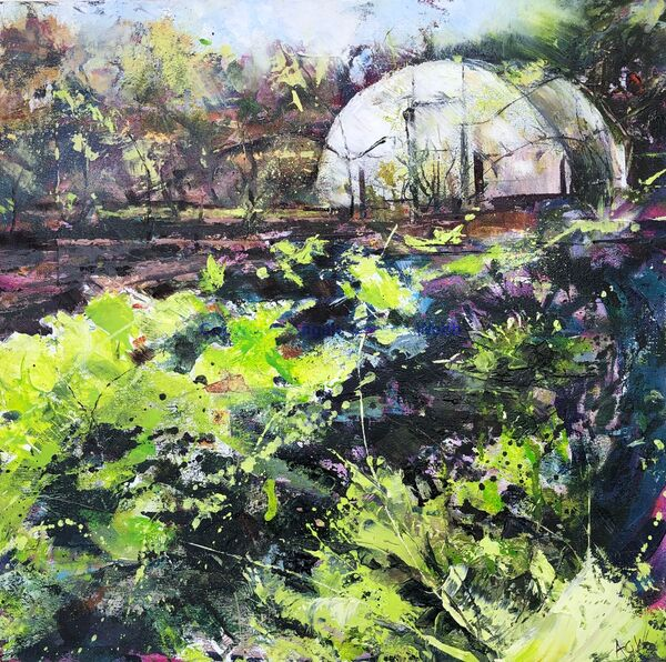 Allotments, spring green, Warwick, Warwickshire, gardening
