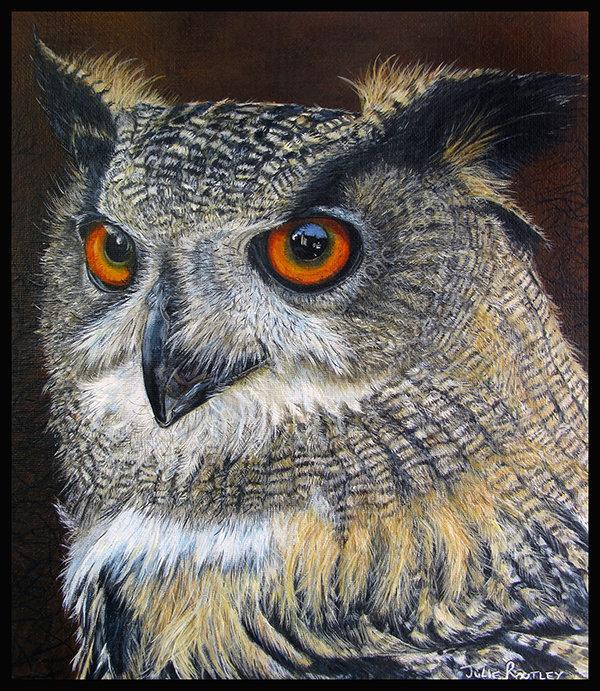 'Eagle Owl' - Original Painting
