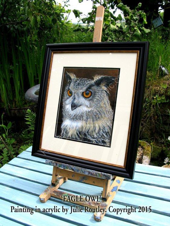 Framed Version of Eagle Owl