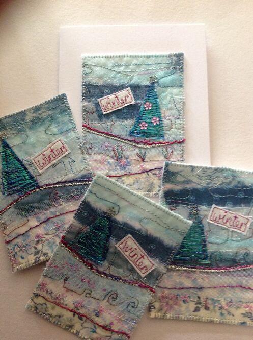 Liz's lovely festive cards from Winter Wonderland