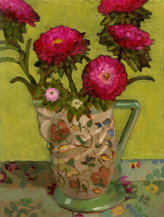 Asters in 1930s Jug