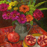 Autumn Flowers and Pomegranates