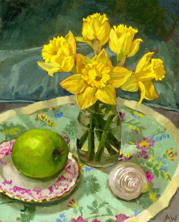 Early Daffodils and Apple