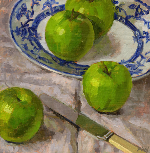 Four Green Apples