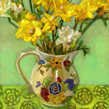 Freesias in Vintage Jug