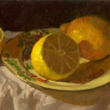 Lemons on Plate