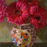 Gerberas in Oriental Vase