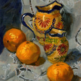 Quimper Jugs with Satsumas