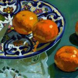 Satsumas on Plate