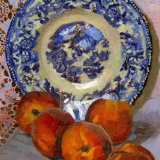 Willow Pattern Plate and Peaches