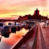 Littlehampton River Front at Sunset
