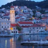 Pucisca at dusk, Croatia